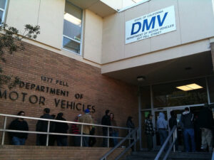 DMV – It would have been faster to drive to Palm Springs to get a new licence