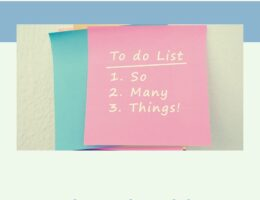 To do list - what should I not do?