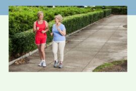 women walking while talking to feel better emotionally